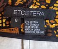 Etcetera Stretch Cotton Pockets Skirt Brown, Black, Gold Image 3