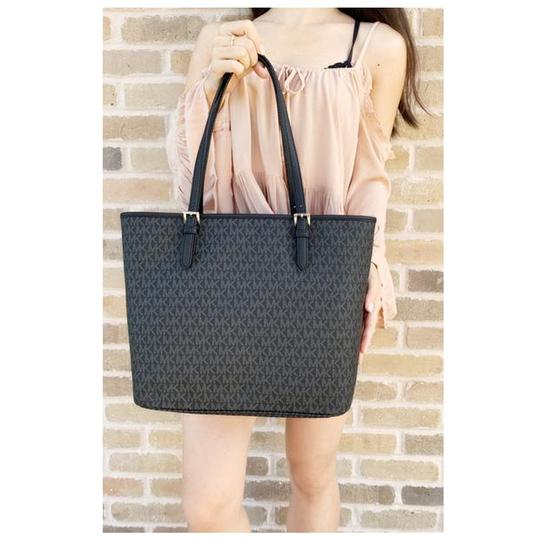 Michael Kors Womens Signature Tote in Black Image 3