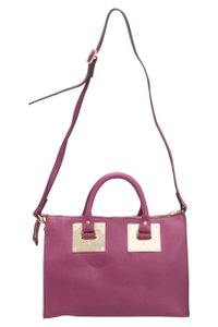 Sophie Hulme Leather Suede Satchel in Pink