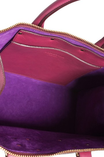 Sophie Hulme Leather Suede Satchel in Pink Image 5