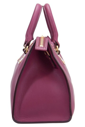 Sophie Hulme Leather Suede Satchel in Pink Image 6