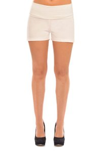 Olian Maternity Twill Shorts Over/Under Belly Black