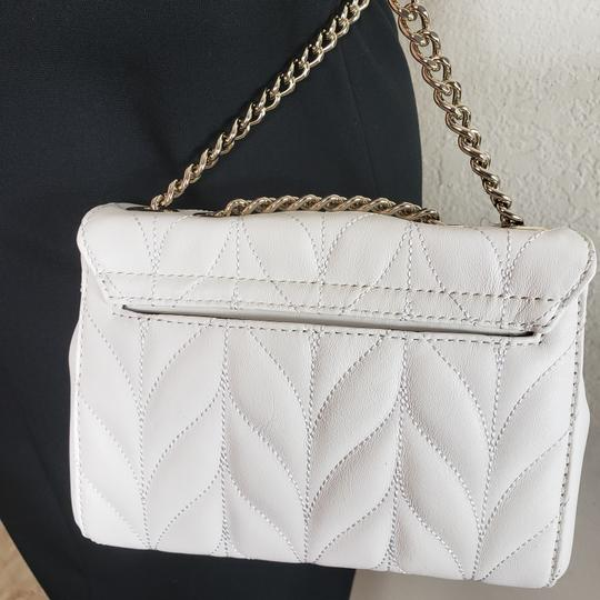 Kate Spade Designer Signature Quilted Leather Convertible Strap Bright White Clutch Image 1