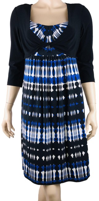 Preload https://img-static.tradesy.com/item/25726902/ronni-nicole-multicolor-ikat-shift-twisted-faux-shrug-accent-mid-length-short-casual-dress-size-6-s-0-1-650-650.jpg