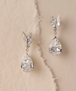 BHLDN Crystal Silver Whit By Ti Adoro Earrings