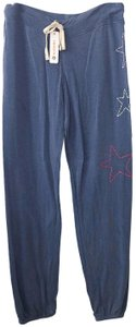 Sundry Embroidered Anthropologie Revolve Jogger Joggers Athletic Pants Blue