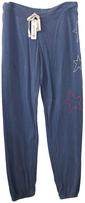Preload https://img-static.tradesy.com/item/25726949/sundry-blue-star-embroidered-cropped-sweatpants-pants-size-8-m-29-30-0-1-650-650.jpg