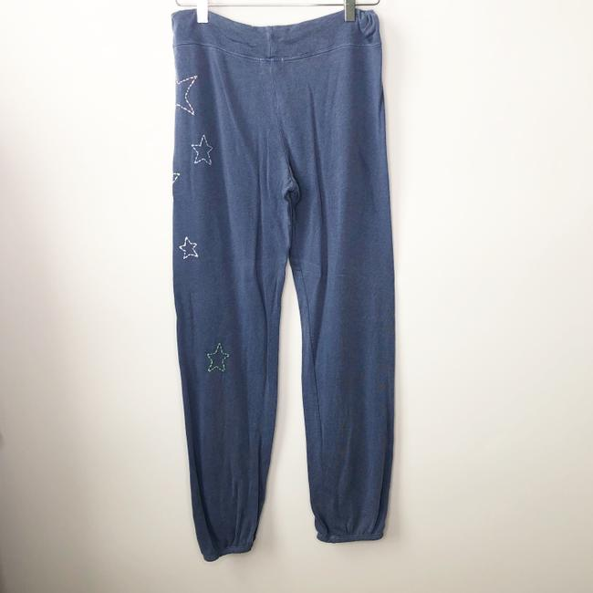 Sundry Embroidered Anthropologie Revolve Jogger Joggers Athletic Pants Blue Image 1