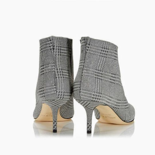 Jimmy Choo Sparkle Leather Silver Glitter Boots Image 2