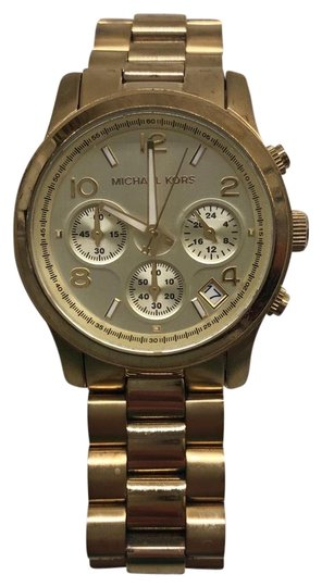 Preload https://img-static.tradesy.com/item/25727024/michael-kors-gold-chronograph-bracelet-watch-0-1-540-540.jpg
