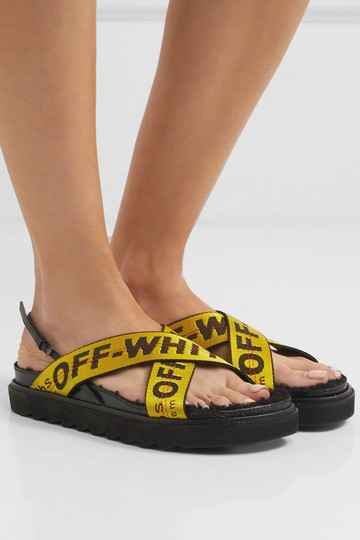 Off-White Off-white Black Yellow Sandals Image 4