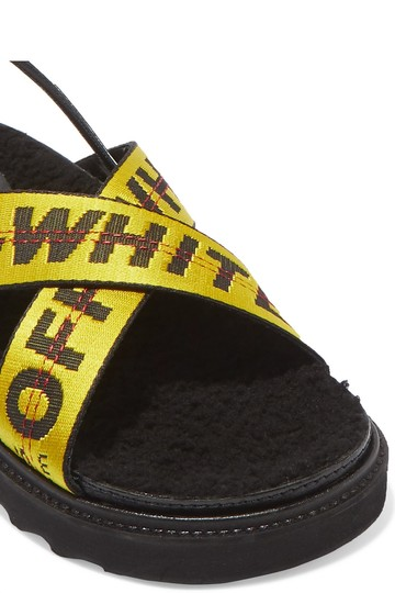 Off-White Off-white Black Yellow Sandals Image 1