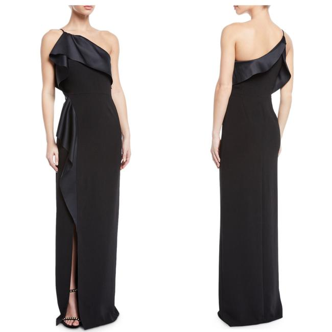 Preload https://img-static.tradesy.com/item/25727048/halston-black-heritage-one-shoulder-satin-drape-gown-long-formal-dress-size-6-s-0-0-650-650.jpg