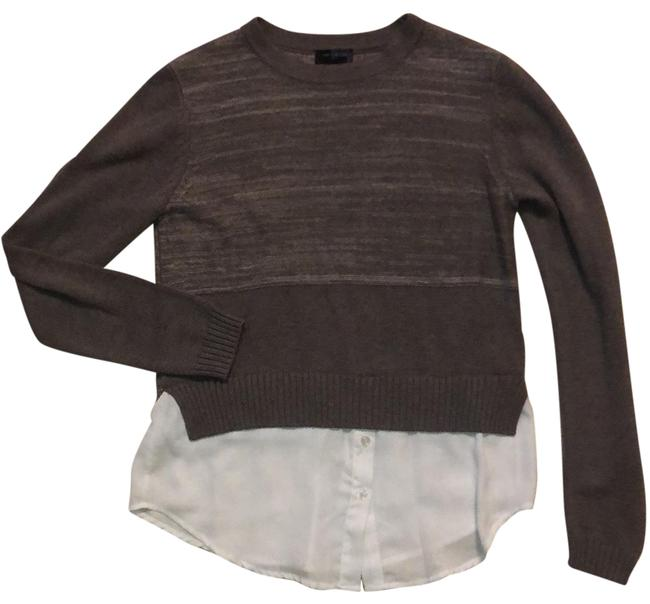 Preload https://img-static.tradesy.com/item/25727062/the-limited-sweaterblouse-brown-with-white-sweater-0-1-650-650.jpg