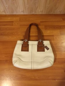 Coach 1941 Tote in white and brown