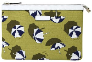Gucci 282071 7309 Canvas Yellow Clutch