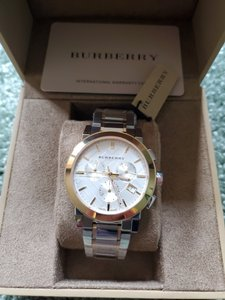 Burberry New Burberry The City Two-tone Chronograph Unisex Bu9751 Watch