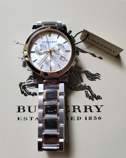 Burberry New Burberry The City Two-tone Chronograph Unisex Bu9751 Watch Image 2
