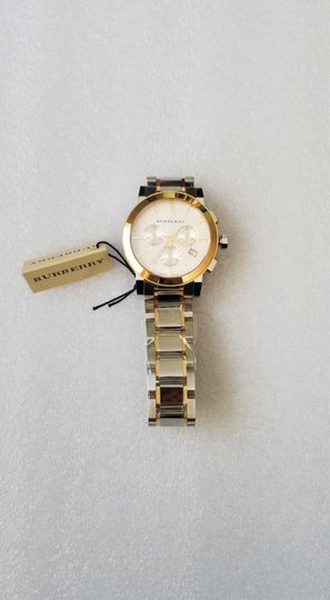 Burberry New Burberry The City Two-tone Chronograph Unisex Bu9751 Watch Image 5