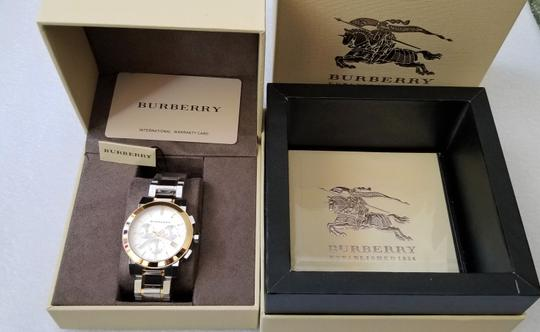 Burberry New Burberry The City Two-tone Chronograph Unisex Bu9751 Watch Image 6
