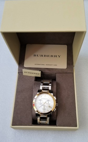 Burberry New Burberry The City Two-tone Chronograph Unisex Bu9751 Watch Image 7