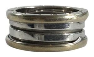 BVLGARI Bvlgari B.zero1 18k White Gold 2 Band Ring - Size 6 52