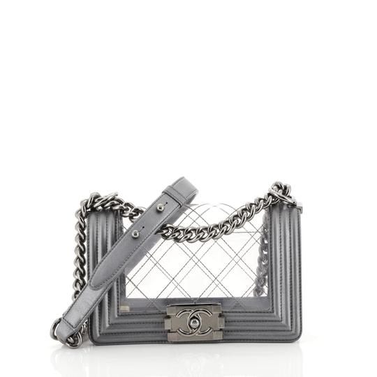 Preload https://img-static.tradesy.com/item/25727565/chanel-classic-flap-boy-quilted-pvc-and-calfskin-small-gray-leather-shoulder-bag-0-0-540-540.jpg