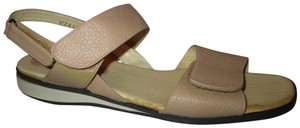 Ros Hommerson Adjustable Wedge Leather Onm001 tan Sandals