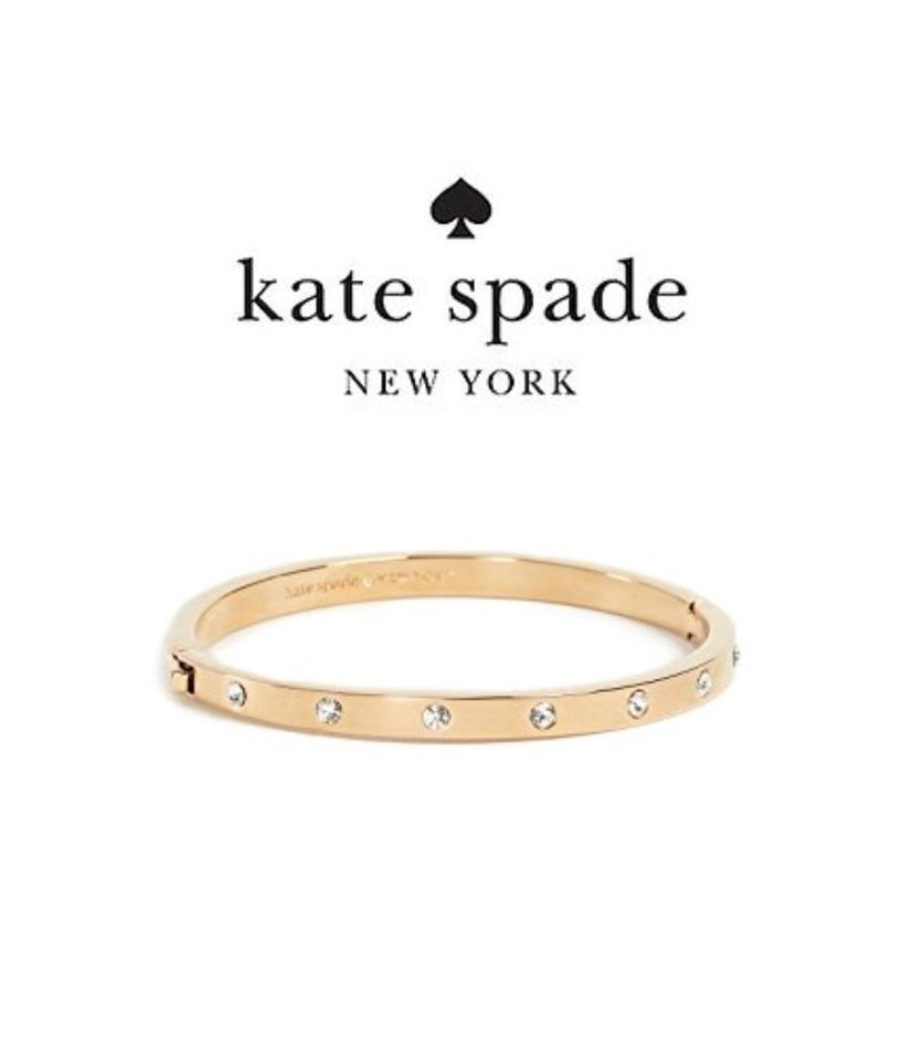 Kate Spade Gold Ks 16k Gold Plated Set In Stone Crystal
