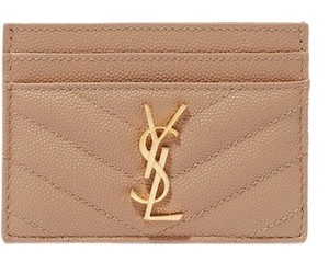 Saint Laurent Saint Laurent Quilted Textured Leather Cardholder