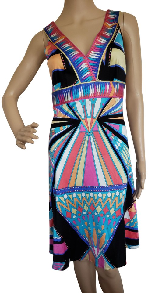 separation shoes 5b7e2 5104d Emilio Pucci Black Jersey Silk Knee-length Sleeveless A-line Mid-length  Casual Maxi Dress Size 8 (M) 52% off retail