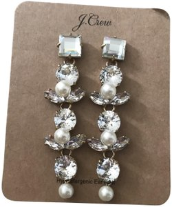J.Crew J.CREW CRYSTAL AND PEARL DROP EARRINGS CRYSTAL K1502