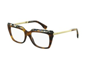 Fendi FF 0088 CUA Havana/Gold Prescription Eyeglasses Frames 51mm Italy