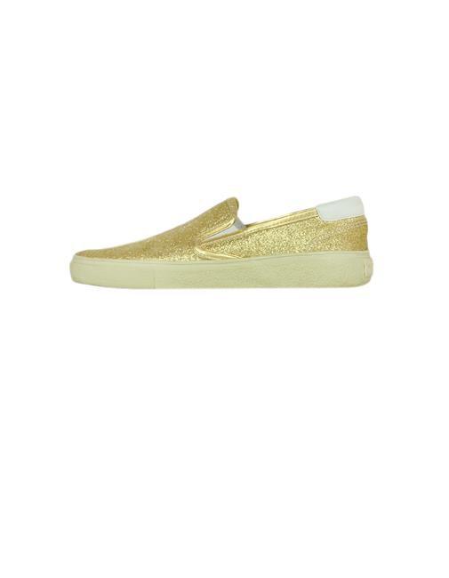 Item - Gold Glitter Wolly Slip-on Sneakers Size EU 39 (Approx. US 9) Regular (M, B)