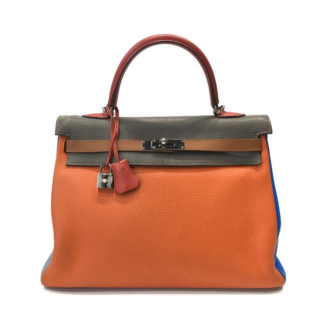 Item - Kelly Harlequin Color 35cm Limited Edition Six Leather Satchel