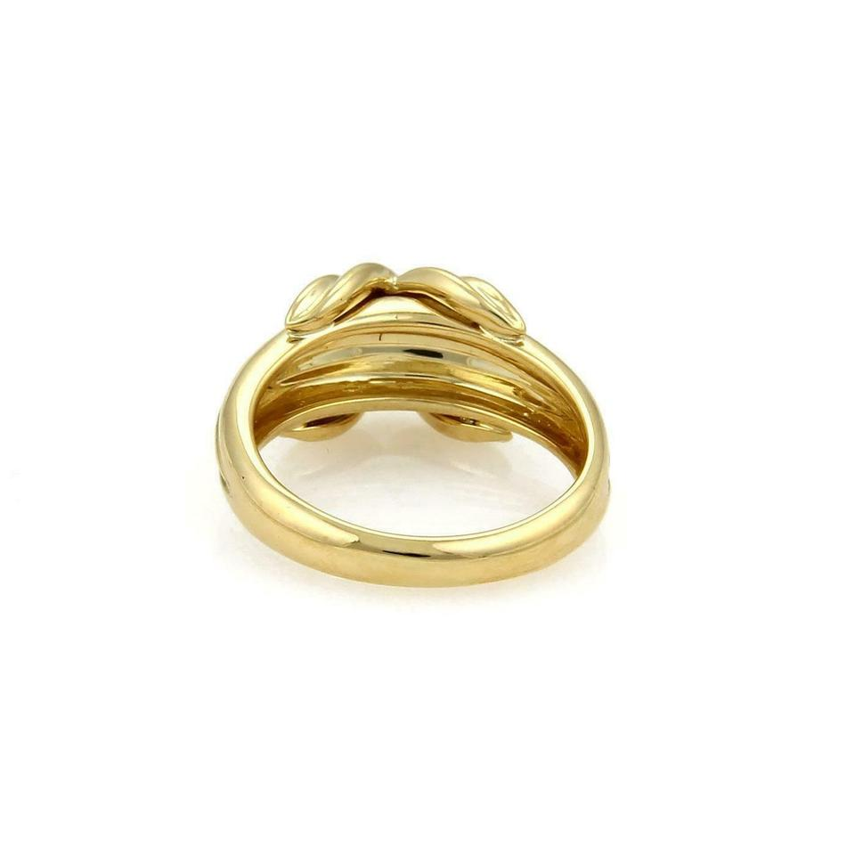 3c17f0b2a6ffb Tiffany & Co. #61039 Classic 18k Yellow Gold X Crossover Grooved Ring