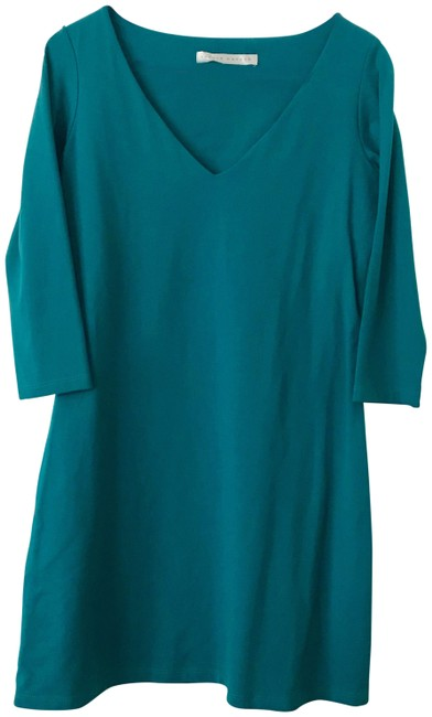 Preload https://img-static.tradesy.com/item/25730183/susana-monaco-teal-a-line-short-workoffice-dress-size-4-s-0-1-650-650.jpg