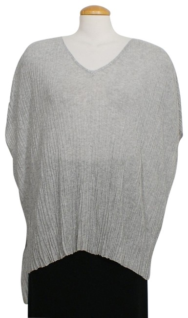 Item - Dark Pearl Gray Box Pressed Viscose Linear Crinkle Sweater S Tunic Size 6 (S)