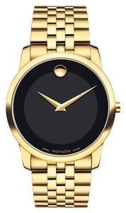Movado 40mm Museum Classic Black Dial 0606997 Swiss Made Quartz