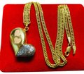 """18K Gold Set Necklace With 16"""" Long 18K Saudi Gold Set Necklace With 16"""" Long"""