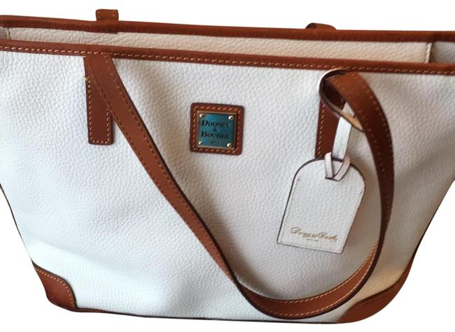 Item - White Soft Pebble Leather Tote