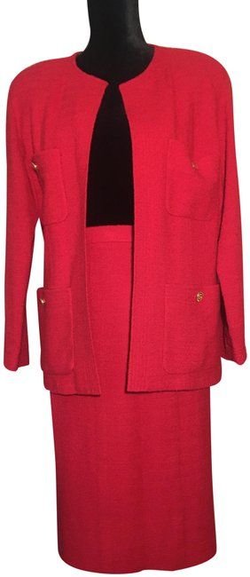 Item - Red Power Skirt Suit Size 6 (S)