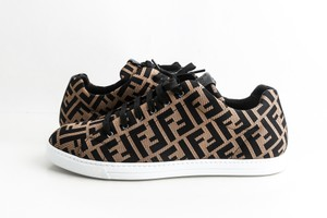 Fendi Brown Tech Fabric Low-tops Sneakers Shoes