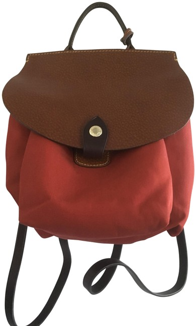 Item - Rustic Brown Leather and Canvas Backpack