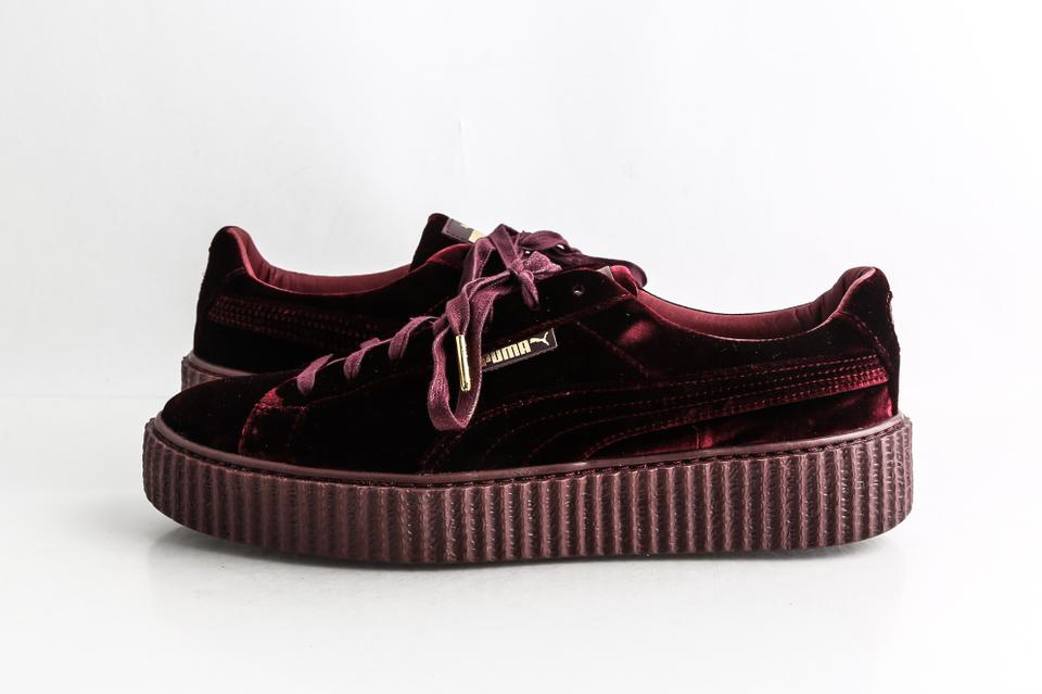 the latest ac748 f1418 Puma Red Velvet Creeper Sneakers Dark Shoes 27% off retail