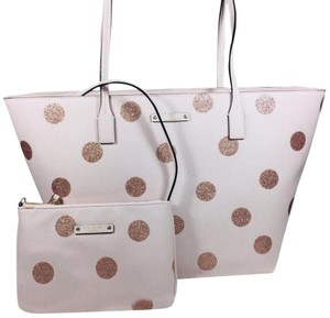 Kate Spade Tote in pink dots