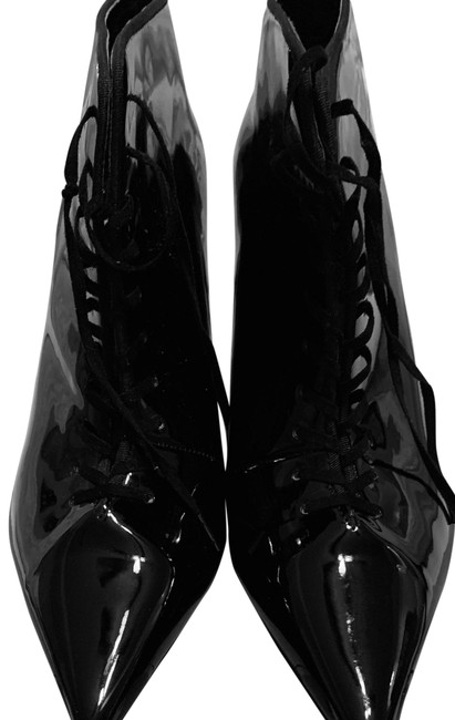 Item - Black Patent Boots/Booties Size EU 38 (Approx. US 8) Narrow (Aa, N)