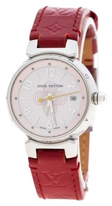 Louis Vuitton Mother of Pearl Stainless Steel Tambour Q1216 Women's Wristwatch 28 mm