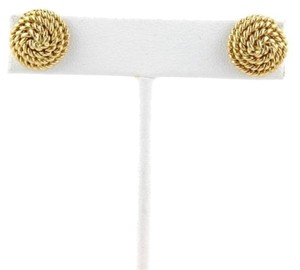 Tiffany & Co. Tiffany Co. 18k Yellow Gold Rope Design Button Stud Earrings