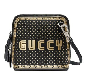 Gucci 511189 1055 Leather Cross Body Bag